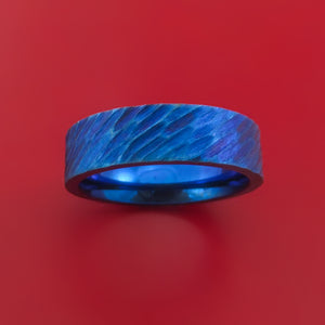 Anodized Titanium Ring Custom Made Band