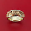 14K White Gold and Rose Gold Textured Band Custom Made Ring