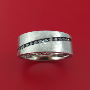 Cobalt Chrome and Black Diamonds Eternity Ring Custom Made Band