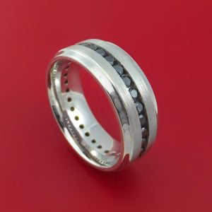 Platinum and Black Diamonds Eternity Ring Custom Made Band