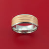 Cobalt Chrome and Rose Gold Band Custom Made Ring