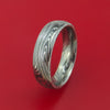 Marbled Kuro Damascus Steel Ring Custom Made Band