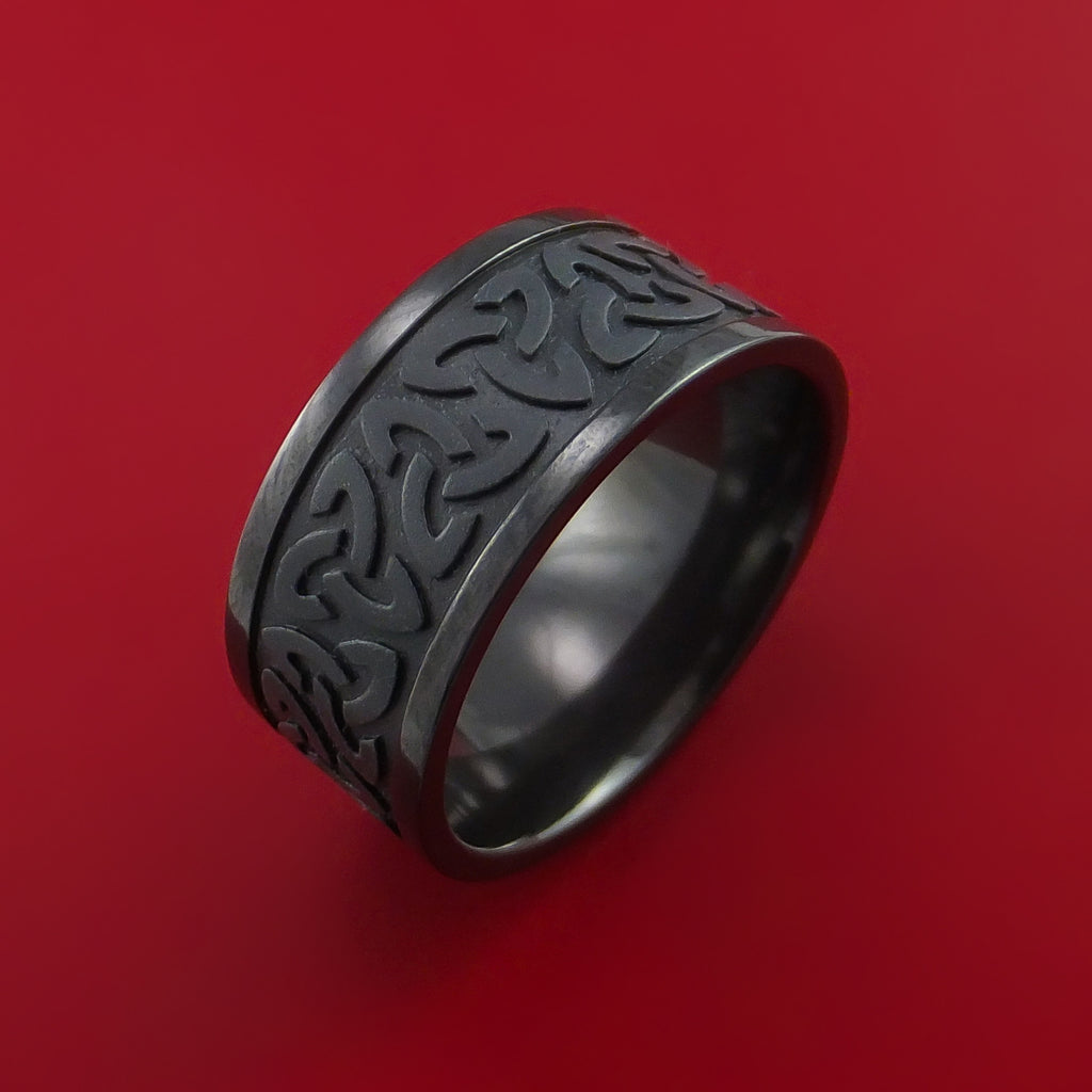 Black zirconium celtic band trinity symbolic wedding infinity ring black zirconium celtic band trinity symbolic wedding infinity ring custom made by stonebrook jewelry buycottarizona Choice Image