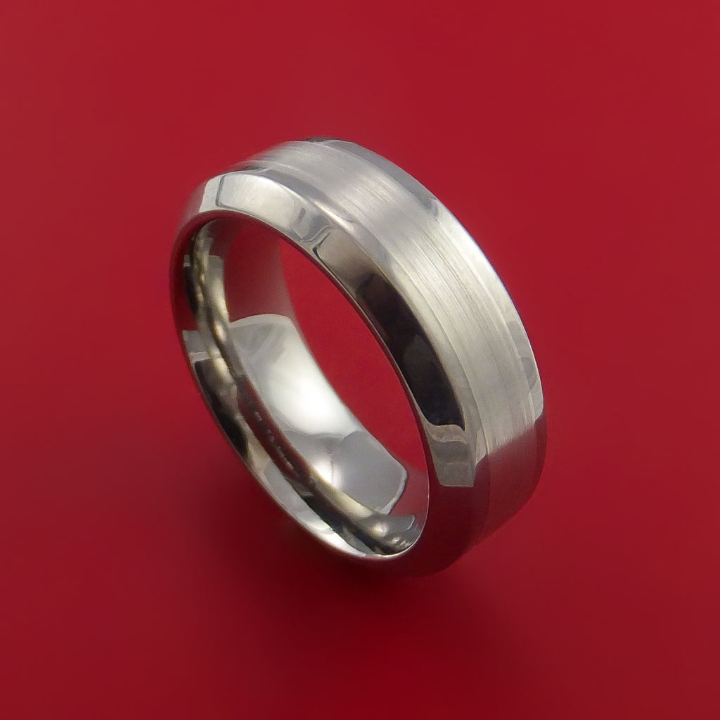 Titanium and Platinum Custom Inlay Ring