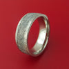 Titanium Ring with Gibeon Meteorite Inlay Custom Made Band