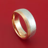 14k Rose and White Gold Distressed Band Custom Made