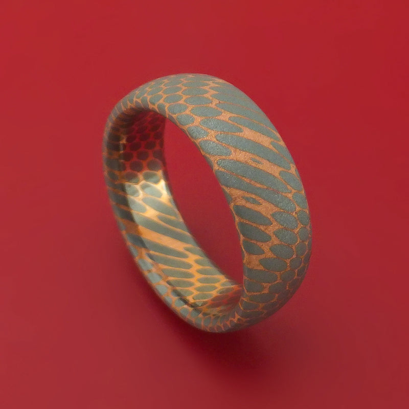 Superconductor Ring Custom Made Titanium-Niobium and Copper Band