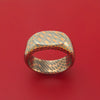 Superconductor Signet Ring Custom Made Titanium-Niobium and Copper Band