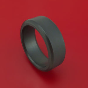Elysium Black Diamond Wedding Band Rounded with Matte Finish