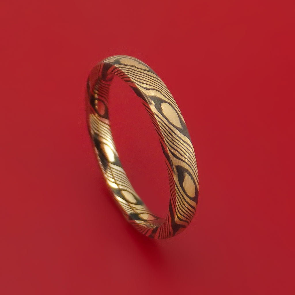 Mokume Shakudo Ring Custom Made Band