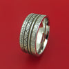 Cobalt Chrome Custom Tire Tread Ring with Satin Finish
