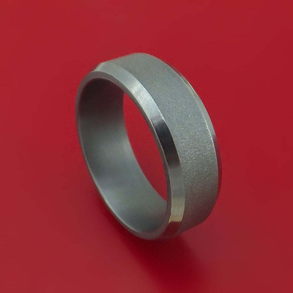 Tantalum Band with Wire Finish Custom Made Ring