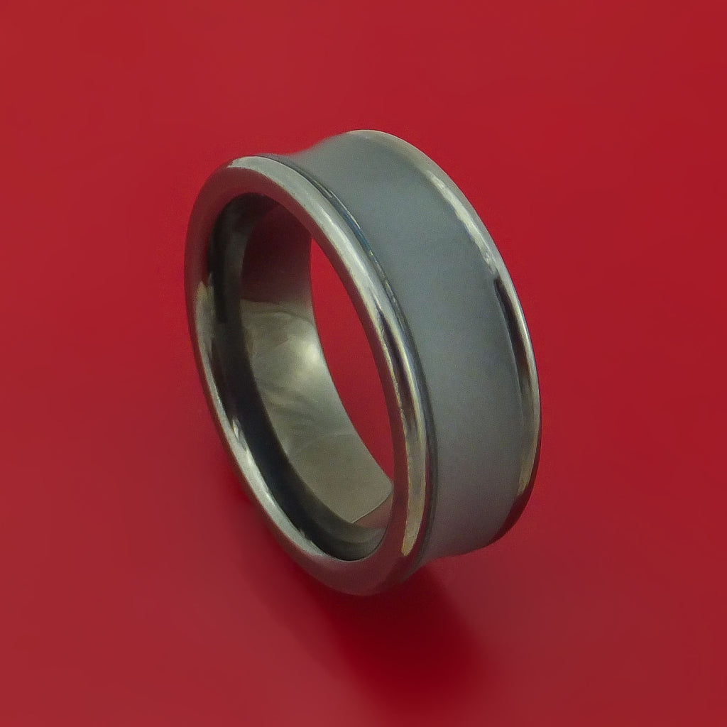 Tantalum Concave Band Custom Made Ring