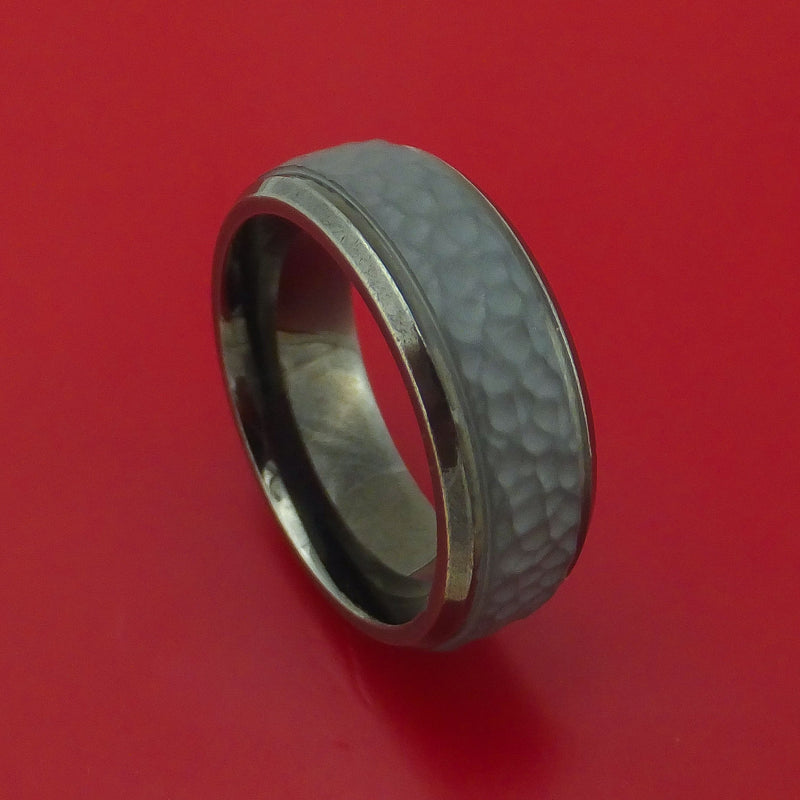 Tantalum Hammered Band Custom Made Ring