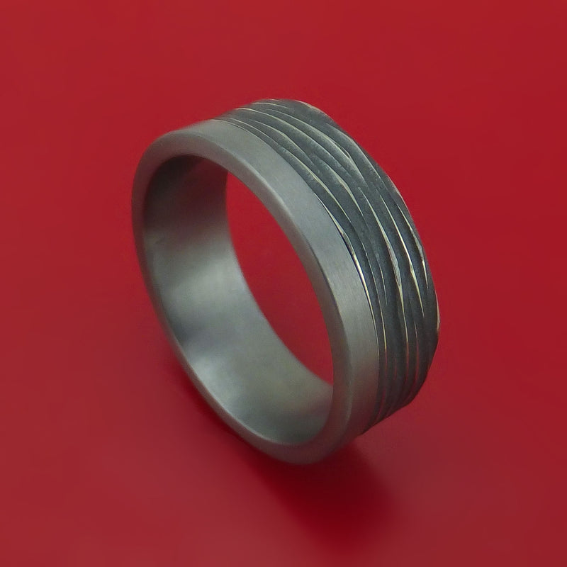 Textured Tantalum and Titanium Custom Made Band