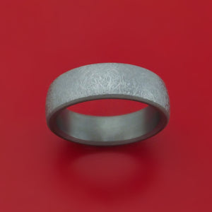 Tantalum Band with Swirled Finish Custom Made Ring
