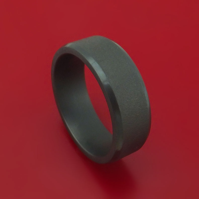 Blackened Tantalum Band Custom Made Ring