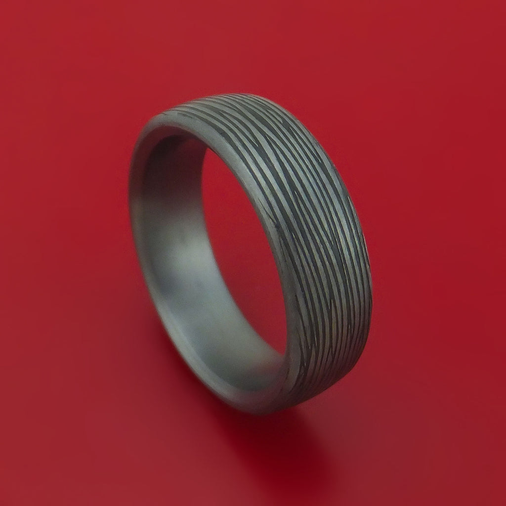 Tantalum Band with Textured Finish Custom Made Ring