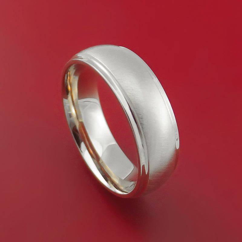 14K White Gold Classic Style Wedding Band Custom Made