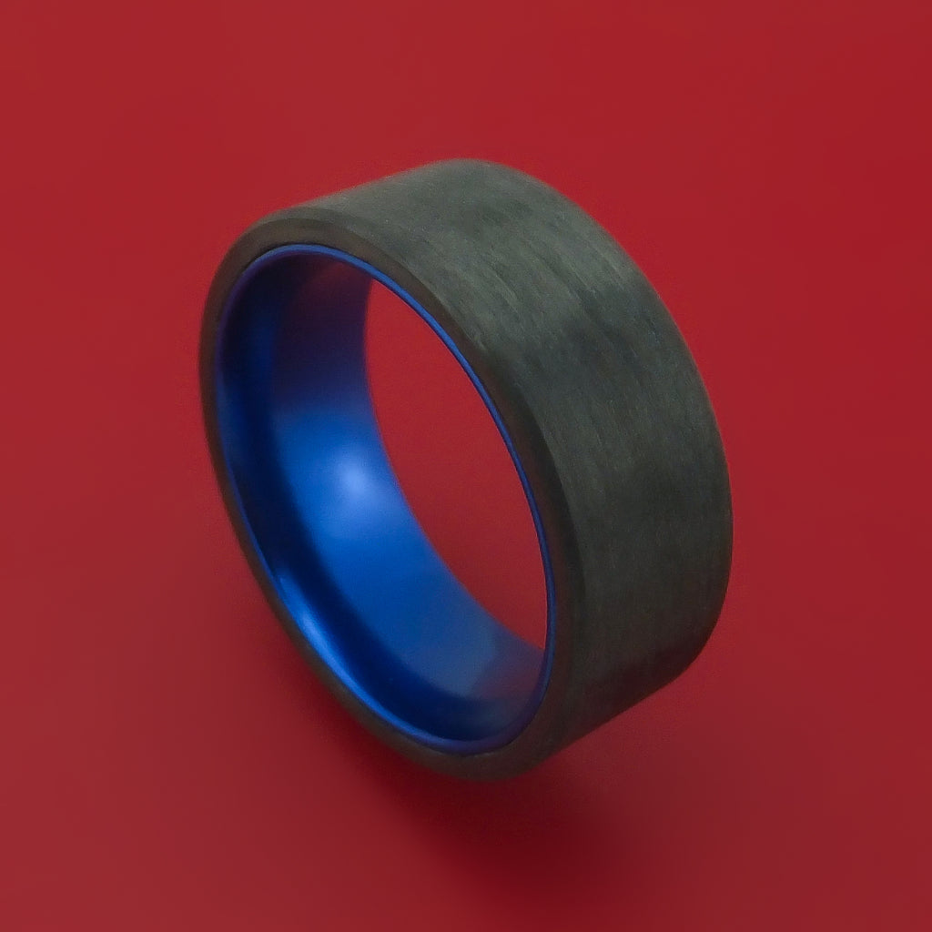 Solid Carbon Fiber Ring with Anodized Sleeve Custom Made