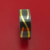 Black Zirconium 14K Rose Gold and Yellow Gold Infinity Band Custom Made