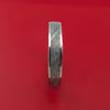 14k White Gold Ring with Gibeon Meteorite Inlay Custom Made Band