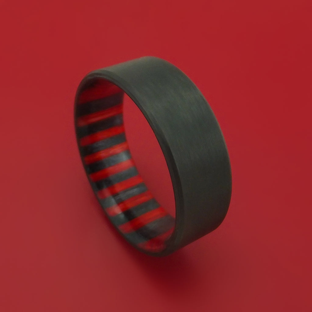 Solid Carbon Fiber Ring With Wood Sleeve Custom Made