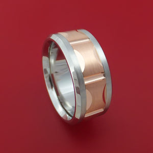 Cobalt Chrome and 14k Rose Gold Band Custom Made Ring