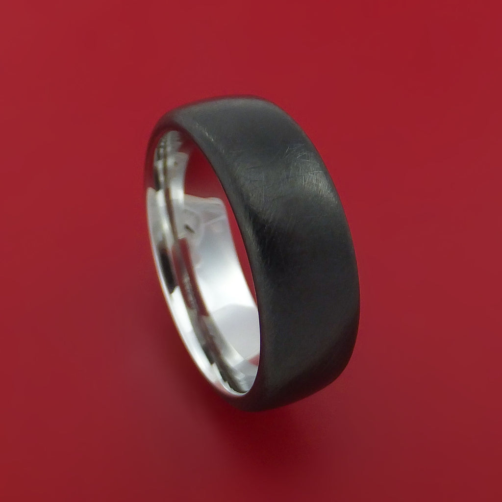 Black Cobalt Distressed Finished Ring Custom Made Textured Band