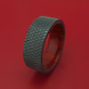 Black Zirconium Ring with Interior Hardwood Sleeve Custom Made Band
