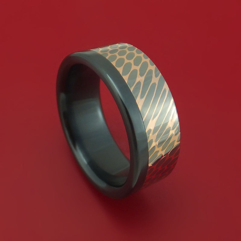 Black Zirconium and Superconductor Off-Set Ring Custom Made Band
