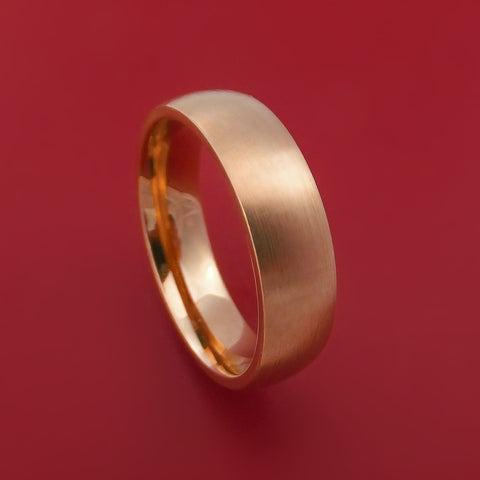 14K Rose Gold Classic Style Wedding Band Custom Made