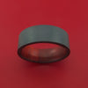 Black Zirconium Ring with Hardwood Interior Sleeve Custom Made Band