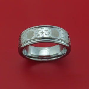 Tungsten Ring with Celtic Pattern Custom Made Band