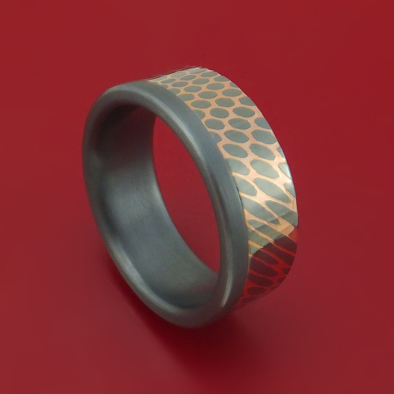 Tantalum and Superconductor Ring Custom Made Band