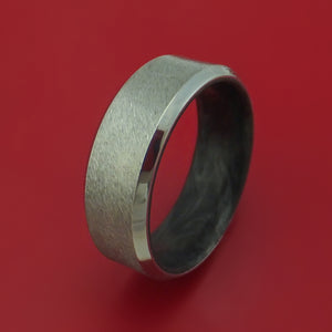 Cobalt Chrome and Forged Carbon Fiber Custom Made Ring