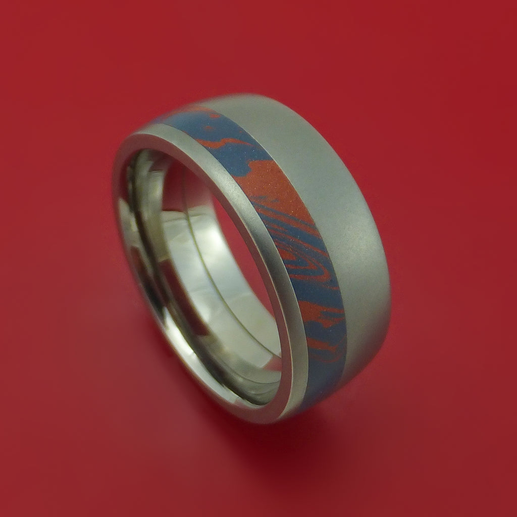 Titanium M3 Mokume Ring Custom Made Band