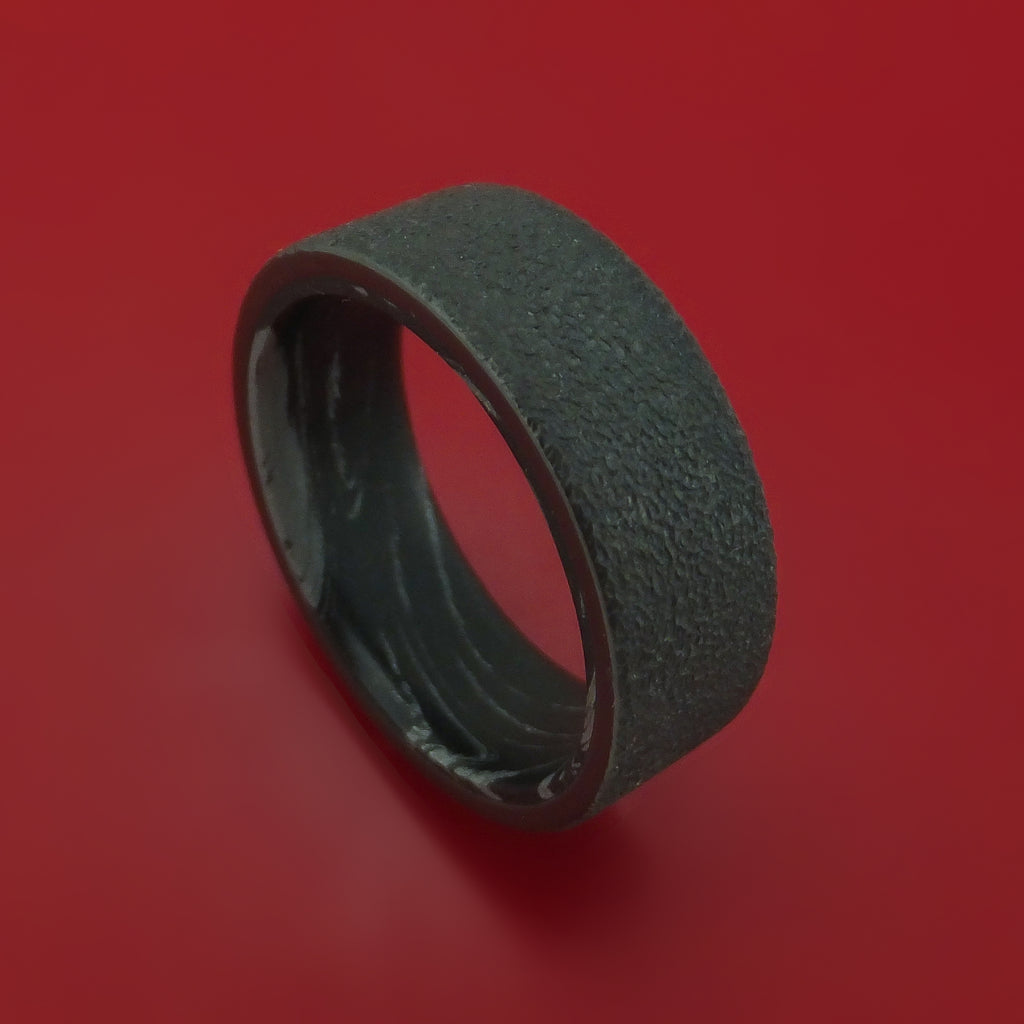 Black Zirconium M3 Mokume Ring Custom Made Band