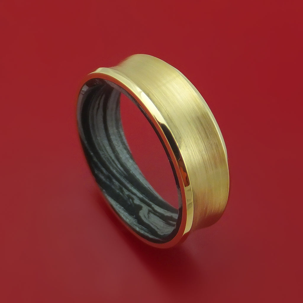 14K Gold M3 Mokume Ring Custom Made Band