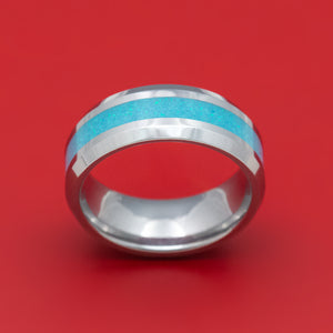 Tungsten Ring with Opal Inlay Custom Made