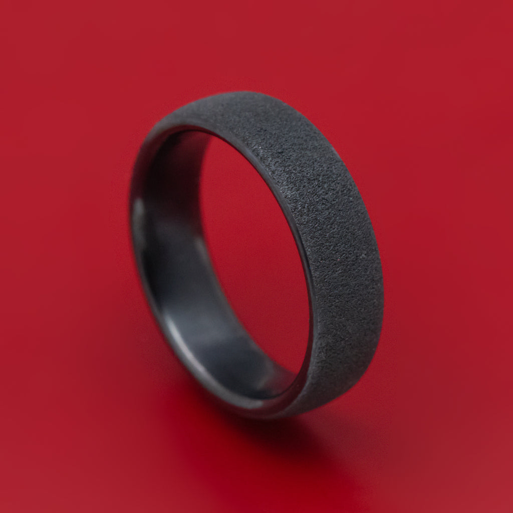 Black Titanium Concrete Finish Mens Band