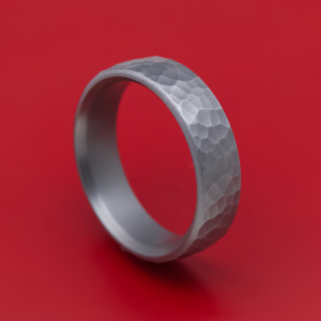 Hammered Tantalum Mens Ring