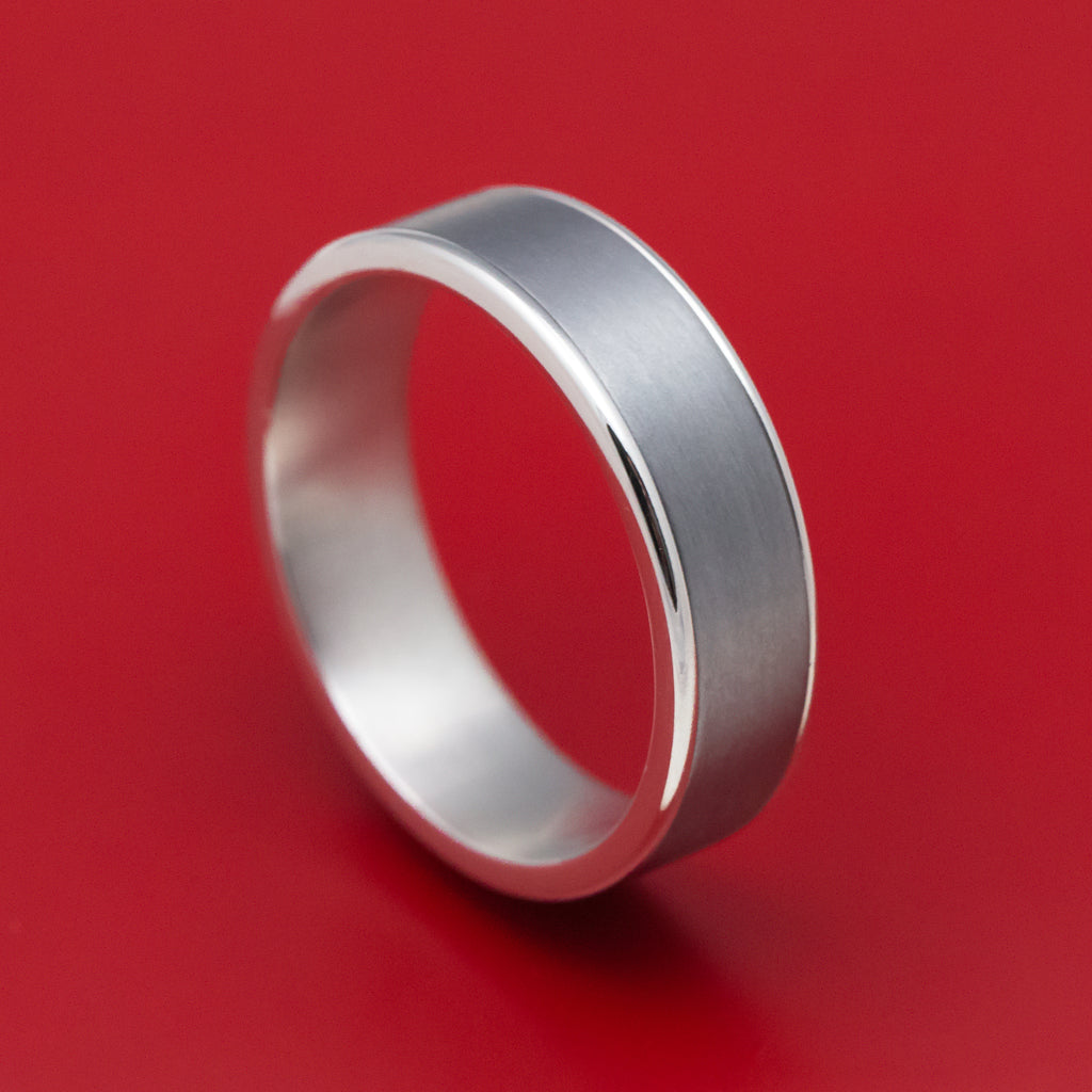 14K White Gold and Tantalum Mens Ring