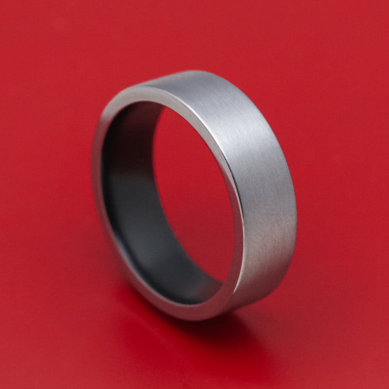 Tantalum Ring with Cerakote Sleeve