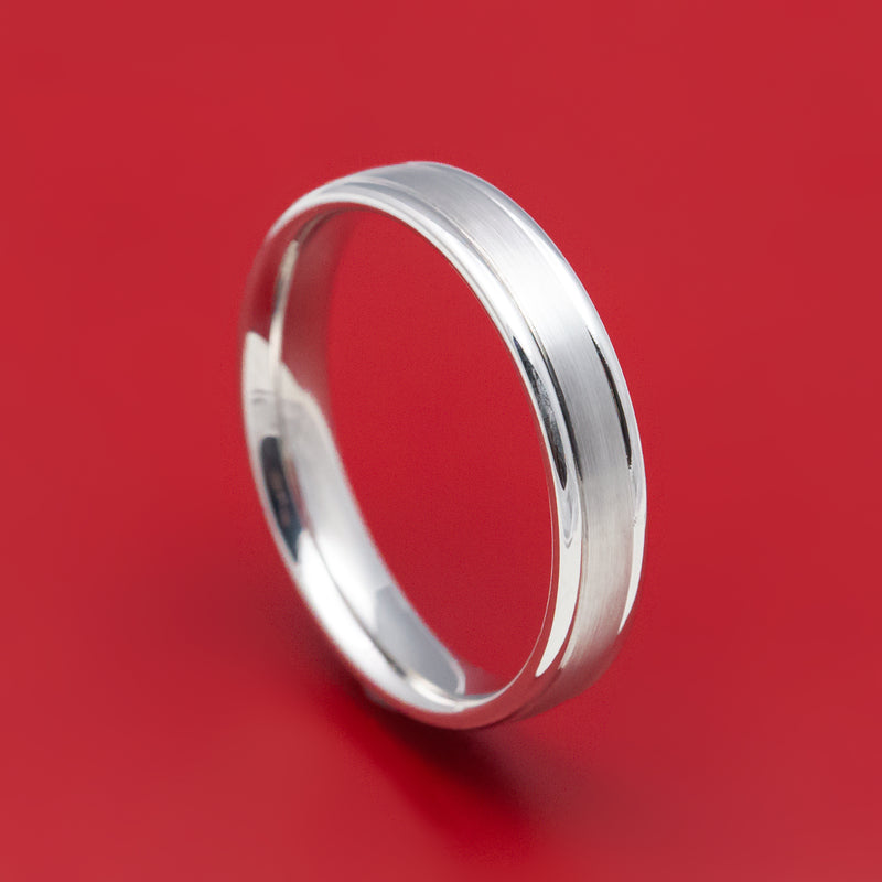 14K White Gold Narrow Classic Wedding Band