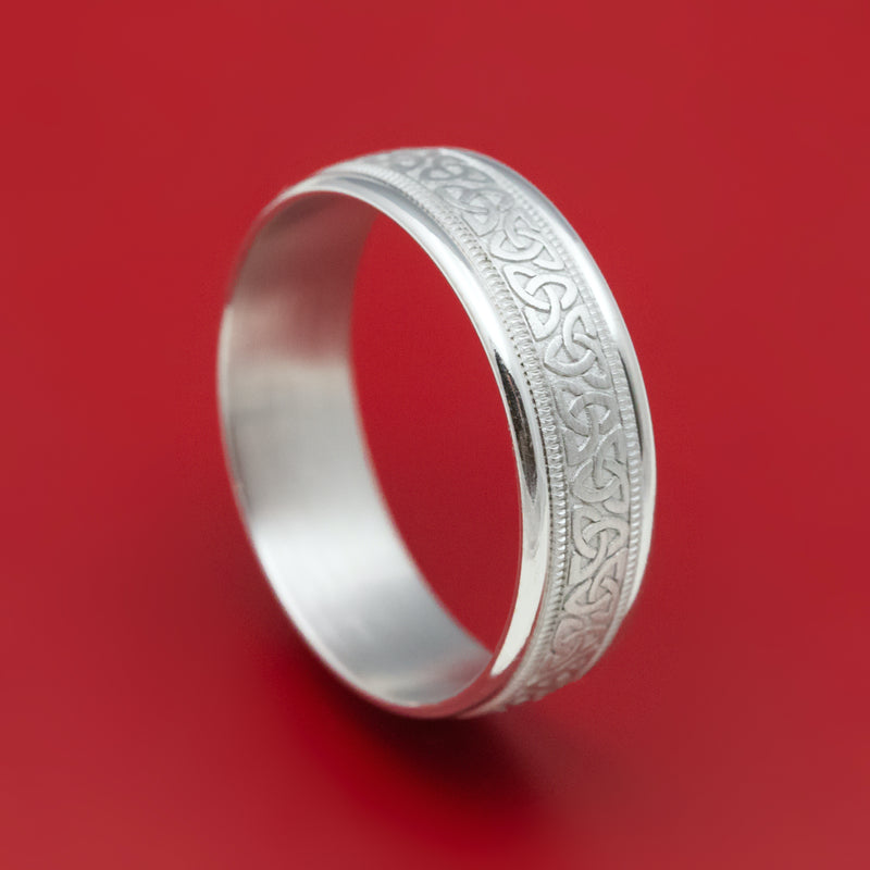 14K White Gold Classic Celtic Knot Wedding Band