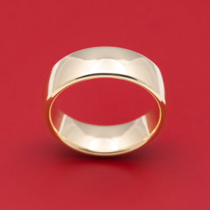 Classic Gold 7.5mm Mens Wedding Band