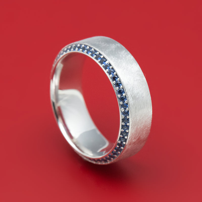 14K White Gold and Eternity Sapphire Ring