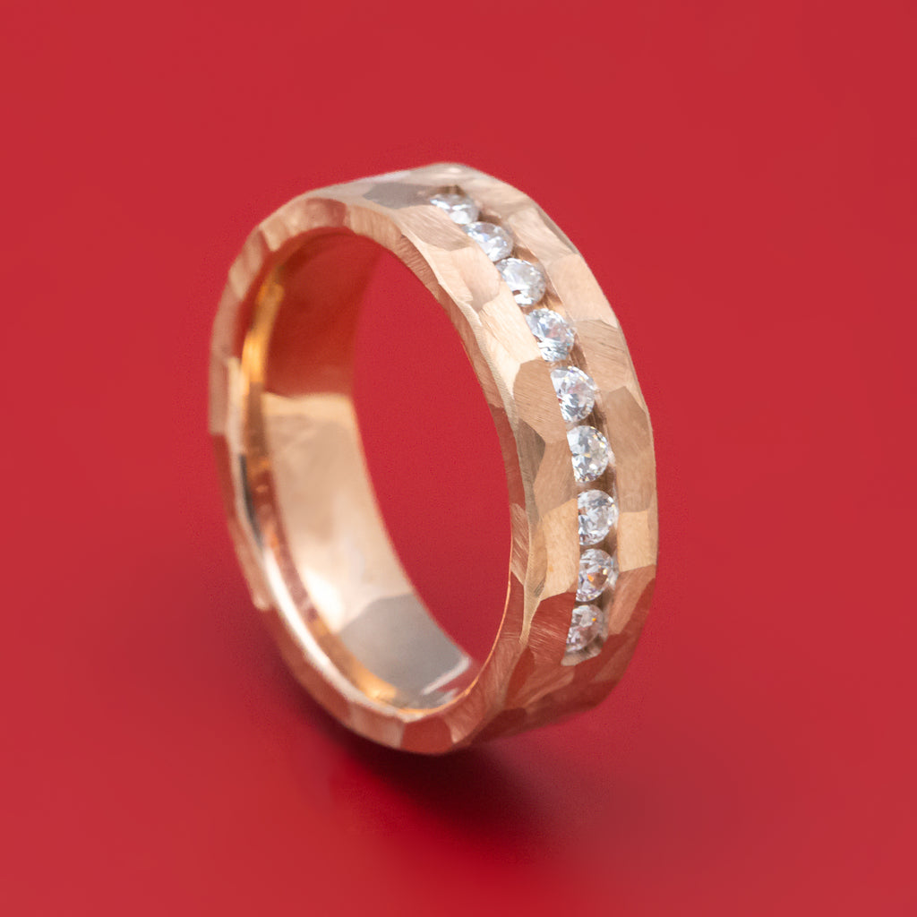 14K Gold and Diamond Band Custom Made