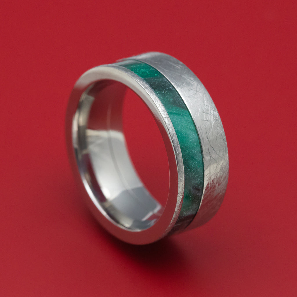 Titanium and DiamondCast Inlay Ring Custom Made